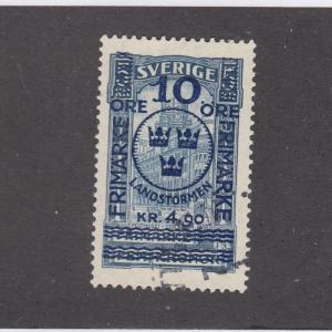SWEDEN # B11 1916 VF-LIGHT USED CAT VALUE $375+