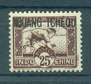 French Offices in China Kwangchowan sc# 124 mlh cat value $3.00