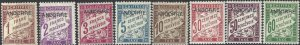Andorra French 1931-1933 SC J1-J8 Mint SCV$ 64.00 Set