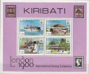Kiribati, Sc 355a, MNH, 1980, London EXPO 1980