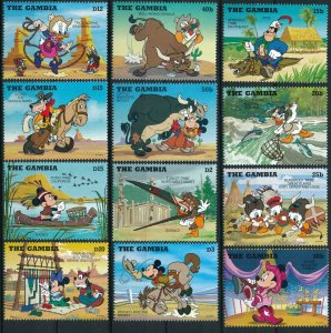 [I1484] Gambia 1995 Walt Disney Cowboys good set of stamps very fine MNH