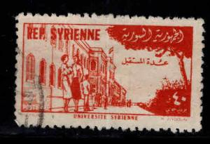Syria Scott C180 Used 1954 airmail stamp