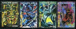 HERRICKSTAMP PAPUA NEW GUINEA Sc.# 1610-13 Pioneer Arts Stamps Part V