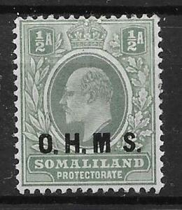 SOMALILAND SGO10a 1904 ½a DULL GREEN & GREEN NO STOP AFTER M MTD MINT