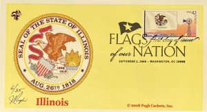 Pugh Cachets 4283 Flags Our Nation Stamp FOON Great Seal District Columbia PNC