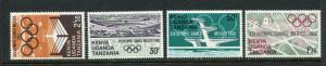 Kenya Uganda & Tanzania #189-92 Mint - Make Me A Reasonable Offer!