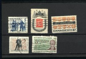 Canada  396-400 Complete set used PD 1962