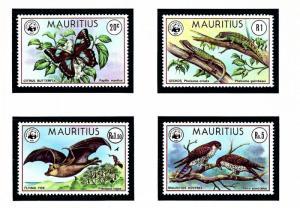 Mauritius 469-72 MNH 1978 W.W.F. set