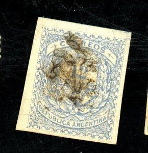 Argentina #54B Used Imperf Single FVF Est$100