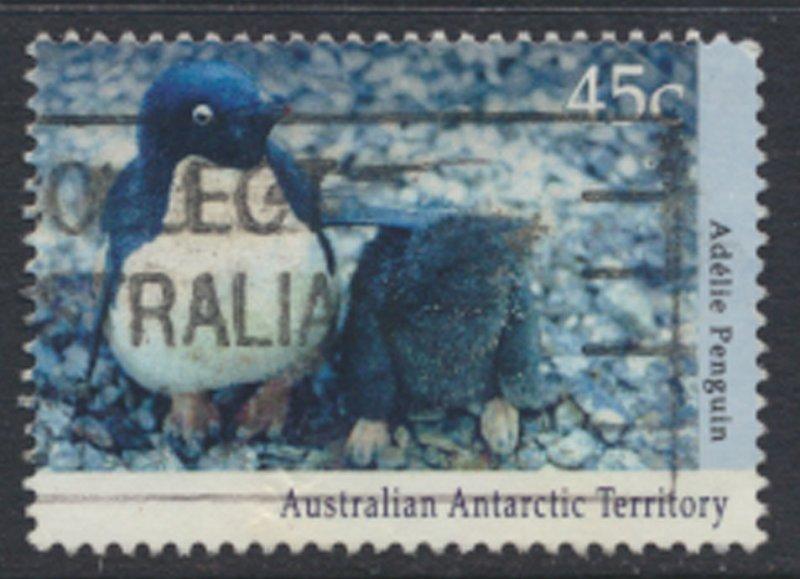 Australian Antarctic Territory SG 90  SC# L83  Used Penguin  1992   see scan
