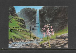 LESOTHO #764 ORCHID  MNH