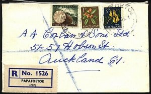 NEW ZEALAND 1965 1/4d rate registered cover ex PAPATOETOE..................24988