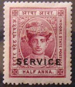 Indore 1904 1/2a Tukoji Rao III Service MLH