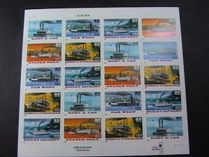 U.S.# 3091-3095(3095a)-MINT NEVER/HINGED--PANE OF 20-AMERICAN RIVERBOATS-1996