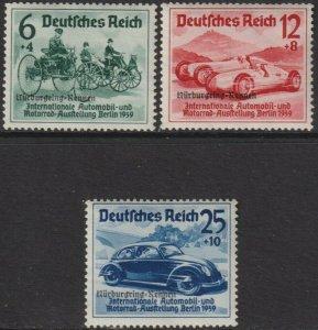 Sc# B141 / B143 1939 Germany Nürburgring Auto Races MNH full set CV $225.00