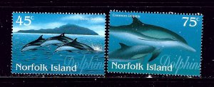 Norfolk Is 621-22 MNH 1997 Dolphins  #2
