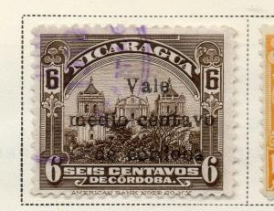 Nicaragua 1918-21 Early Issue Fine Used 1/2c. Surcharged 323633