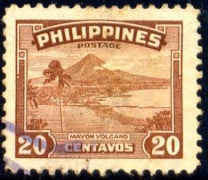 Mayon Volcano, Philippines stamp SC#508 used