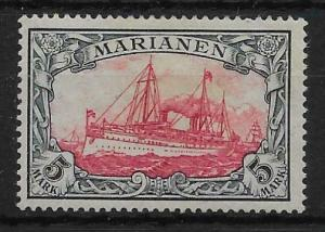 MARIANA ISLANDS SG25 1901 5m CARMINE & BLACK MTD MINT