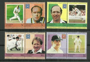 1984 Tuvalu-Nukulaelae Cricket World Leaders C/S MNH