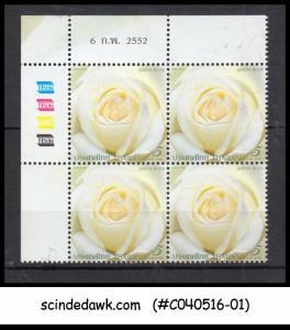 THAILAND - 2009 ROSE / FLOWER - BLK OF 4 - MINT NH