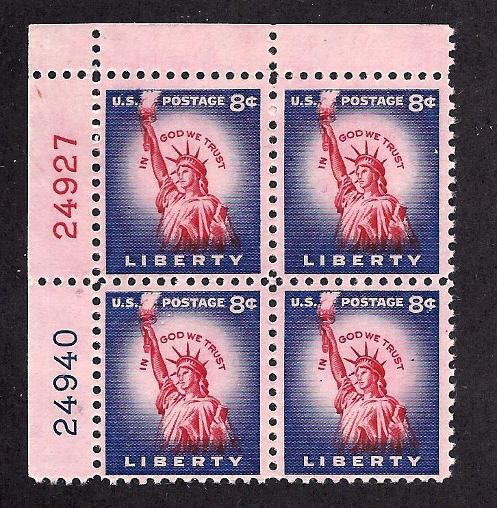 1041B Mint,OG,NH... Plate Block of 4