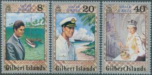 Gilbert Islands 1977 SG48-50 Silver Jubilee set MNH