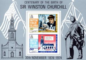 British Virgin Islands 1974 Sc # 279a Sir Winston Churchill S/S (1) MNH VF