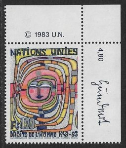 United Nations UN Geneva 1983 - Scott # 120 Mint NH Ships Free With Another Item