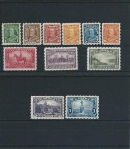 CANADA 1935 SET OF ELEVEN LMM SG 341/51 CAT £110