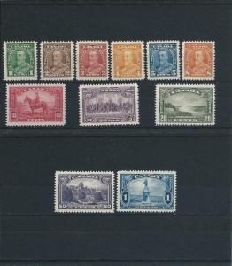 CANADA 1935 SET OF ELEVEN LMM SG 341/51 CAT £110