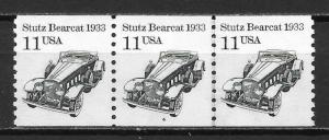 United States 2131 11c Stutz PNC Strip of 3 Plate 4 MNH (z2)