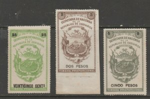 Costa Rica tax revenue fiscal collection stamp ml332- white background issues