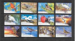 BIRDS - BRITISH INDIAN OCEAN TERRITORY #274-85  MNH