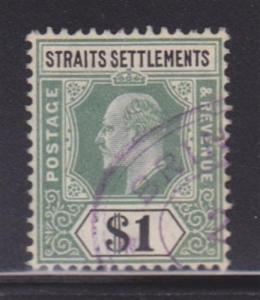 Straits Settlements 102 VF-used light cancel nice color cv $ 75 ! see pic !