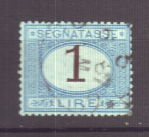 J22613 Jlstamps 1870-25 italy used #j13 o postage due