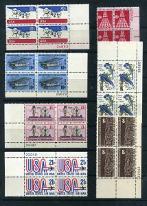 21 Air Mail Plate Blocks of 4