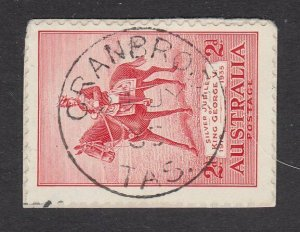 AUSTRALIA TASMANIA 1935 2d Jubilee on piece CRANBROOK cds...................Q896