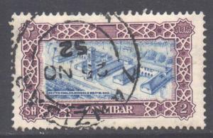 Zanzibar Scott 240 - SG349, 1952 Sultan 2/- used