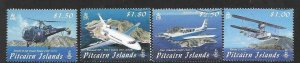 PITCAIRN ISLANDS SG791/4 2009 VISITING AIRCRAFT FINE USED