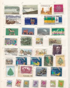 CANADA^^^^x72     used  collection  on  2  pages   $18.00@ dca 1423xxbcana233