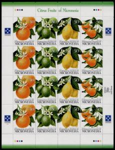 Micronesia 248 Sheet MNH Citrus Fruit, Orange, Lime, Lemon, Tangerine (cr)