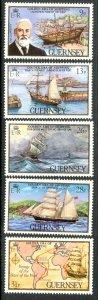 GUERNSEY 1983 GOLDEN ERA OF SHIPPING Set Sc 269-273 MNH