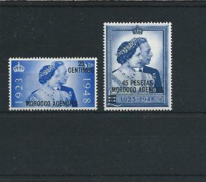 MOROCCO AGENCIES SPANISH 1937-51 KG6 ISSUES COMPLETE LMM/MNH SG 164/86 CAT £80+