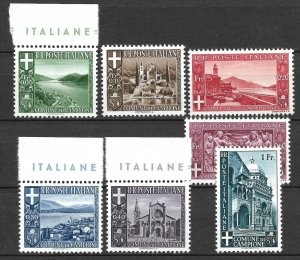 Doyle's_Stamps: Local Issues -- Italian City of Campione Commemorative Issue Set