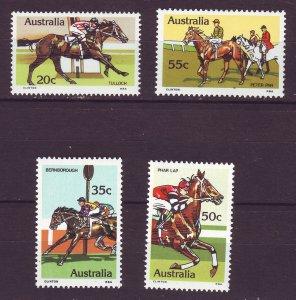 J24241 JLstamps 1978 australia set mnh #691-4 race horses