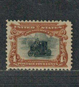 US Sc#296 M/NH/VF, Cv. $170