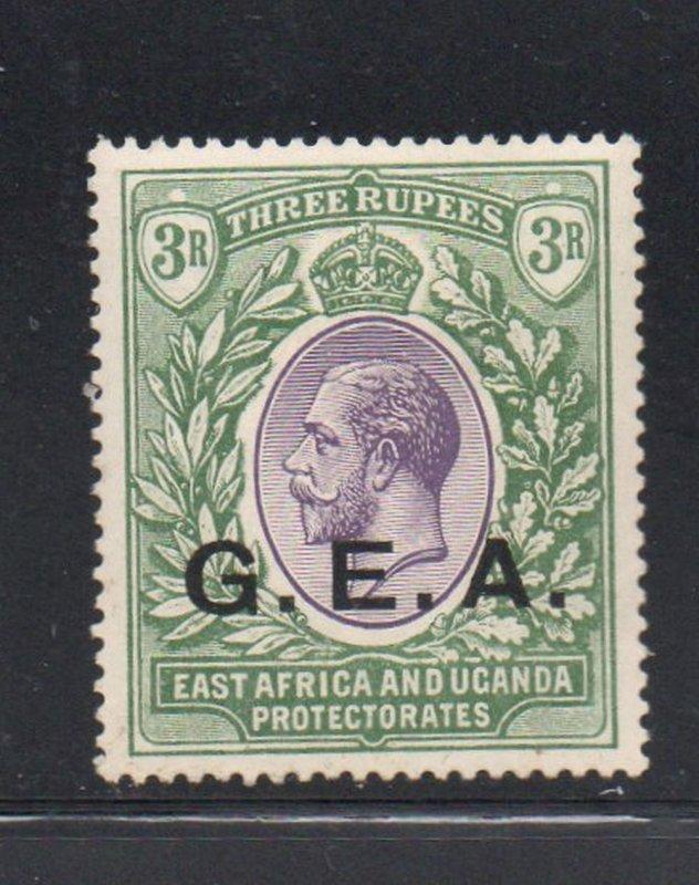 Tanganyika Sc 5 1921 GEA ovpt on 3R G V stamp mint