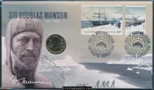 2012 Sir Douglas Mawson Postal Numismatic Cover