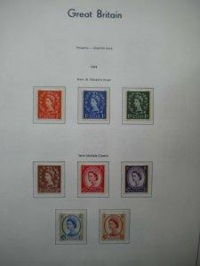 GB QEII 1959 Phosphor Graphite Wildings Complete set of 8 Values U/M Cat £100